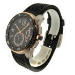 CARTIER【カルティエ】W2CA0004 カリブルドゥカルティエ ダイバー 腕時計 K18イエローゴールド/SS/ラバー メンズ 【中古】