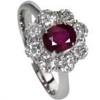 SELECT JEWELRY【セレクトジュエリー】 ルビー/ダイヤモンド リング・指輪 プラチナPT900 【中古】