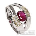 SELECT JEWELRY セレクトジュエリー  ルビー/ダイヤモンド リング・指輪 プラチナPT900/K18YG  中古