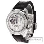 ZENITH ゼニス Ref.03.2160.4047/01.C713 クロノマスター グランドデイト 腕時計 ステンレススチール/アリゲーター メンズ  中古