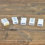 スタンプ 事務 郵便用スタンプ  磁器スタンプ 角型ハンコ 倉敷意匠計画室 英語