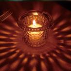 カメヤマキャンドル  灯りの放射を楽しめるキャンドルホルダー ハンマードグラスライトハウス  キャンドルホルダー