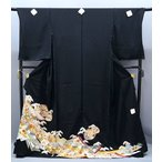 SALE セール 手縫い仕立て付  正絹 黒留袖 手描き友禅   束のしめ貝合せ文様  to-254  結婚式  婚礼  和装