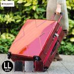 スーツケース 超大型 LLサイズ メガマックス TSA 静音 サイレントキャスター Wファスナーキャリー HIDEO WAKAMATSU キャリーケース