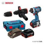 (お買い得)ボッシュ BOSCH GSR18V-ECFC2 18V バッテリーマルチドライバードリル (5.0Ahバッテリー2個、充電器、アダプター2種類、キャリングケース付)
