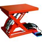 (直送品)TRUSCO テーブルリフト150kg 電動Bねじ式 DC24Vバッテリー専用 520×630 HDL-L1556R-D2