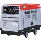 運賃見積り 直送品 新ダイワ ディーゼルエンジン溶接機・兼発電機 400A 車輪付き DGW400DMC-W