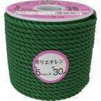 ユタカ ロープ PEカラーロープボビン巻 5mm×30m グリーン RE-33
