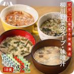 JA柳川 おいしい野菜たっぷりスープ・味噌汁 18個セット ニラ玉スープ なすとオクラの味噌汁 とま...