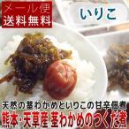 熊本県天草産 茎わかめのつくだ煮 いりこ入り 100g メール便送料無料 ポイント消化