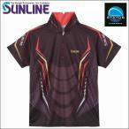 サンライン ステータス PRODRY(プロドライ)シャツ 半袖 LL チャコールグレー STW-5561CW フィッシングウエア
