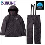 サンライン MPウォームアップスーツ LL SUW-1807 (上ブラック  下ブラック) ステータス フィッシング ウエア(期間限定 特価 セール)