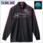 サンライン フルジップアップシャツ M SUW-5568HT ブラック 黒 ステータス フィッシング ウエア(セール 2018秋冬 最新 新作モデル)