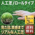 人工芝 芝生 リアル人工芝 グリーンターフ 人工芝生 人工芝ロール 人工芝マット ベランダ 1m×3m 送料無料