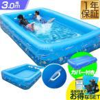 プール ビニールプール ファミリープール 大型 3m 3.0m バタ足 練習 スイミング 取っ手 カバー付き 送料無料