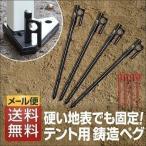 ペグ 鍛造ペグ テント用ペグ4本セット 【メール便】 送料無料