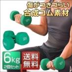 ダンベル 6kg 2個セット 合計12kg カラーダンベル 男女兼用 男性 女性 メンズ レディース 鉄アレイ 鉄アレー 筋トレ インナーマッスル 送料無料