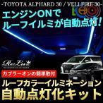 アルファード30系 / ヴェルファイア30系 専用 LEDルーフカラーイルミネーション 自動点灯化キット