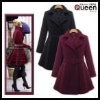 大きいサイズの服 レディース メルトンコート Aラインコート プリンセスコート ベルト ショート ジャケット アウター LL 3L 4L 5L 6L 秋冬