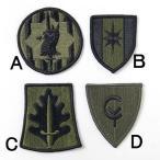 US.ミリタリー、OD.部隊章ワッペン(新品、ミリタリーワッペン)4A