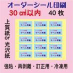 ショッピングシール オーダーシール印刷/上質紙/光沢紙/30平方センチ以内/40枚