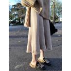 ロングスカート 秋冬 レディース スカート ハイウエスト マキシスカート  フレアスカート 無地 大きいサイズ おしゃれ