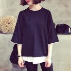 半袖tシャツ レディース  トップス  カジュアル ビッグTシャツ オーバーサイズ Tシャツ 大きい ゆるい ビックサイズ シンプル