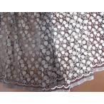 黒チュールドット柄刺繍レース生地(2色) ストール ウェディングドレス ワンピ カーテン バレエや発表会の衣装