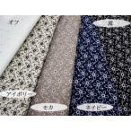 カットワークレース生地(5色) 綿生地に小さな花柄刺繍 ハワイアン布、和柄とも相性良