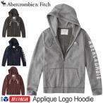 アバクロンビー&フィッチ 正規品 Abercrombie&Fitch メンズ パーカー Logo Zip Up Hoodie 4色 グレー バーガンディー ネイビー