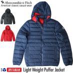アバクロンビー & フィッチ Abercrombie & Fitch アウター フード付きダウンジャケット Light Weight Puffer Jacket ブラック ネイビー レッド