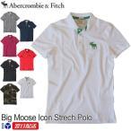 アバクロンビー&フィッチ 正規品 Abercrombie&Fitch メンズ カノコ ビックロゴ ポロシャツ Big Moose Icon Strech Polo ホワイト ネイビー他 US限定モデル