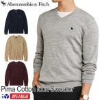 アバクロ Abercrombie&Fitch アバクロンビー&フィッチ Vネックセーター ニット Pima Cotton Icon Sweater グレー ネイビー ブラウン他