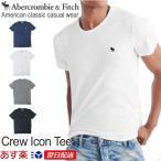 アバクロンビー&フィッチ 正規品 アバクロ Abercrombie&Fitch メンズ Tシャツ 無地Tシャツ ロゴ入り Crew Tee  ホワイト グレー他 US限定モデル