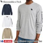 アバクロンビー&フィッチ 正規品 Abercrombie&Fitch ロンT 長袖アップリケTシャツ Long Sleeve Logo Crew Tee グレー ホワイト ネイビー他
