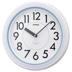 掛け時計 非電波 アナログ 防水 防塵 MAG アクアガードホワイト W-662-WH-Z (D)(B)