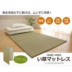 ショッピングマットレス マットレス い草マットレス シングル 日本製 寝具 マットレス 約100×210cm 折りたたみ【代引き不可】