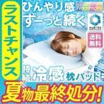 タイム! 枕パッド 持続冷感 高分子ジェルウレタンクール ブルー (D) JUPP-5058
