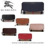 ショッピングBURBERRY バーバリー 財布 長財布 レディース  ラウンドファスナー ELMORE House Check Derby Leather 送料無料