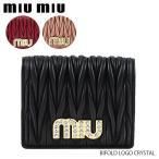 miumiu-ミュウミュウ- BIFOLD LOGO CRYSTAL [5MV204 2BSQ]
