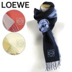LOEWE ロエベ Bicolor Anagram Scarf バイカラー アナグラム スカーフ マフラー 刺繍 ロゴ レディース メンズ ユニセックス F810250X01 2186 5142 4568