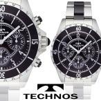 送料無料 男性用 腕時計 正規品 テクノス セラミック MIX クロノグラフ