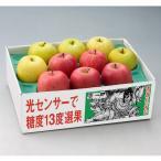 青森県産りんご サンふじ・王林 甘味系2種詰め 2.5kg(8〜10個) 特選 ねぶた箱 11月下旬より 送料無料 ギフト 御歳暮