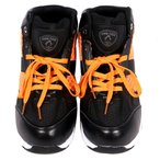 ファイアーフォックス セーフティースニーカー ハイカット 樹脂製先芯 25.0cm オレンジ 軽量 作業靴 HZ-340