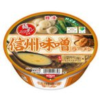 信州味噌を100%使用! 4箱まで1個口 日清 麺ニッポン 信州味噌ラーメン×12個[ケース販売]