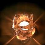 キャンドルホルダー アイスマウンテン ティーライト用ガラス製キャンドルスタンド(ロウソク用)