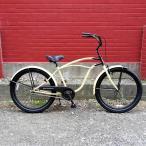 """自転車 RAINBOW PCH101 26""""BC グロスサンド×ブラック レインボー ビーチクルーザー 26インチ おしゃれ  通勤 通学 メンズ レディース"""