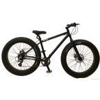 ブロンクス ファットバイク レインボー ビーチクルーザー 26インチ 自転車 メンズ レディース 軽量 24段変速 26BRONX-TRX マットブラック×ブラックリム