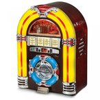 Crosley クロスリー Crosley CR1101A-CH Jukebox with CD Player and LED Lighting, Cherry 正規輸入品