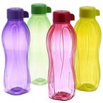Tupperware タッパーウェア の密閉容器 Tupperware Eco Sports 1 Litre Aqua Safe Water Bottle ( Set of 4) 32 Oz 正規輸入品